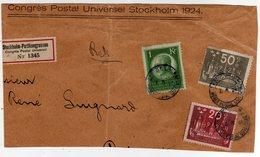 Suede Sverige 1924 VIII UPU Congress Stockholm Cover Registered - UPU (Unione Postale Universale)
