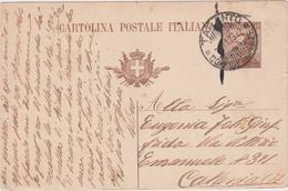 Italy 1923 Cartolina Postale 40c Brown From Taranto To Catania - 1900-44 Vittorio Emanuele III