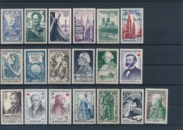FRANCE - LOT DE 19 TIMBRES NEUFS** SANS CHARNIERE - COTE YT : 30€70- 1941/59 - France