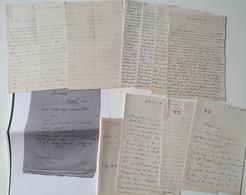 RAOUL MARIE DONOP (  Général En 1892 ) 1841 - 1910 Autographe 8 Lettres 66 P. ( 1 Algérie ) 1864-65 ( 1- 1868 ) - Autographes
