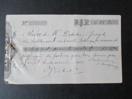 VP REçU (M1617) JUMET (2 VUES) B. P. F. Reçu Pour Bois 1933 - Belgique