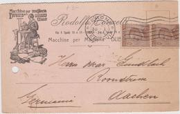 Italy 1926 Postal Card From Verona To AAchen - 1900-44 Vittorio Emanuele III