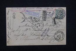 FRANCE - Carte Postale Départ De Paris Pour La Belgique Et Retour En 1906 , Tombée En Rebut - L 23165 - Marcophilie (Lettres)