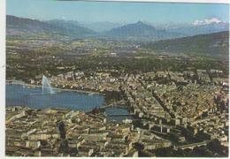 Cpm Geneve - La Ville , Le Jet D Eau Et Le Massif Du Mont Blanc - GE Ginevra