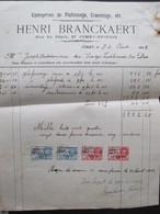 VP FACTURE (M1617) JUMET - SPINOIS Rue Du Dépôt (2 VUES) HENRI BRANCKAERT Plafonnage Et Cimentage 1933 - Belgique