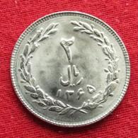 Iran 2 Rials 1986 / SH 1365 KM# 1233 Lt 777 Irão Persia Persien - Iran