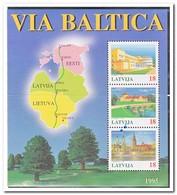 Letland 1995, Postfris MNH, Via Baltica - Letland
