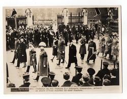 PHOTO PARIS SOIR - ANGLETERRE - 1936 OBSEQUES DU ROI GEORGES V - SOUVERAINS PRINCES CHEFS D'ETAT SUIVENT LE CHAR FUNESTE - Photos