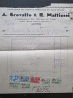 VP FACTURE (M1617) ROUX - AISELIES Rue De Jumet (2 VUES) A. Crovatto & E. Mattiussi Travaux Mosaïques 1933 - Belgique