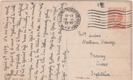 Italy 1929 Cartolina Con 60c Orange From Milano To Inghilterra - 1900-44 Vittorio Emanuele III