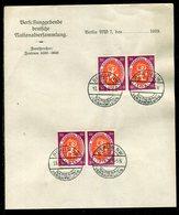 """Deutsches Reich / 1920 / Mi. 110 2x Paar A. Briefpapier """"Nationalversammlung"""", So-Stempel Berlin (10003) - Deutschland"""
