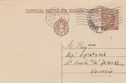 Italy 1932 Cartolina Postale Con Risposta From Rovigo To Venezia - 1900-44 Vittorio Emanuele III