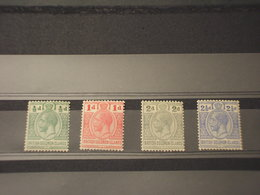 SOLOMON - 1913/23 RE 4 VALORI, Insieme/set - NUOVI(+) - Isole Salomone (1978-...)