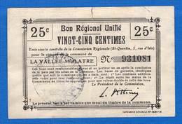 Vallée _mulatre  La  02/2334  25  Cts - Bons & Nécessité