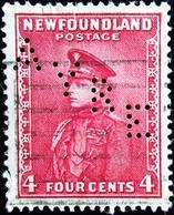 1932 Newfoundland Yt 173 .Prince Of Wales . Perforé AYRE - Terre-Neuve