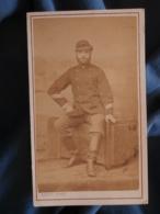 CDV Photo Godet à Paris - Militaire (Auguste Renaut) Sergent Major Garde Mobile Guerre 1870-71 L425A - Anciennes (Av. 1900)