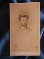 CDV Photo E. Talons à Paris - Second Empire Portrait Auguste Renaut à 18 Ans (1866) Après Une Typhoïde L425A - Anciennes (Av. 1900)
