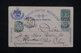 FRANCE - Affranchissement Blanc Sur Entier Postal Du Mexique Départ De Paris En 1904 Pour Montreuil Sous Bois - L 23171 - Marcophilie (Lettres)