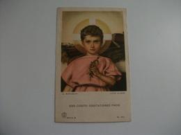 SANTINO HOLY PICTURE EGO COGITO COGITATIONES PACIS G. MARTINETTI FOTO ALINARI EPIFANIA 1946 - Religione & Esoterismo