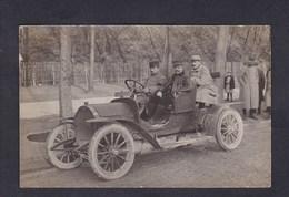 Carte Photo Guerre 14-18 Voiture Peugeot 125 Requisitionnee Par L' Armee Française Depot Lacordaire 13è R.A. Paris - War 1914-18