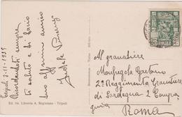 Italy 1935 Postcard From Tripoli To Roma - 1900-44 Vittorio Emanuele III
