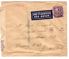PR6349/ TP 431 Poortman S/L.Avion C.Gent 5/4/1943 V.Allemagne Censure 'c' + N° De Censeurs - WW II