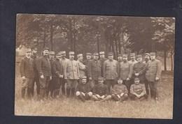 Carte Photo Guerre 14-18 Groupe De Poilus Instructeurs Service Automobile Depot Paris Lacordaire 13è R.A. - Guerre 1914-18