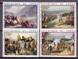 """1969-(MNH=**) Congo Posta Aerea S.4v.""""Anniversario Nascita Di Napoleone Bonaparte,quadri"""" - Non Classés"""