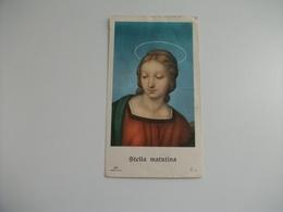SANTINO HOLY PICTURE STELLA MATUTINA PIEGHE SCIUPATA - Religione & Esoterismo