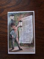 L16/5 Chromo. Journal La Lanterne. A.Pavy. Coiffeur , Parfumeur. Paris . Au Myosotis - Trade Cards