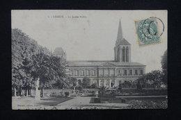 FRANCE - Oblitération  Jour De L 'An  Sur Type Blanc Sur Carte Postale De Lisieux Pour Paris - L 23178 - Marcophilie (Lettres)