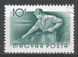 Hungary 1955. Scott #1117 (U) Fisherman * - Hongrie