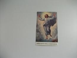 SANTINO HOLY PICTURE ANNO SANTO DELLA REDENZIONE MISSIONE FRANCESCANA CITTADINA PIEGHE - Religione & Esoterismo