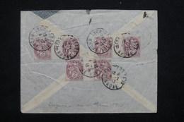 FRANCE - Affranchissement Blancs Dont Millésimes Au Verso D'une Enveloppe Du Vice Consul Du Panama à Lyon 1913 - L 23180 - Marcophilie (Lettres)