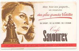 """Buvard ( 20.5 X 13.5 Cm ) """" Café Savourex """"( Rousseurs ) - Café & Thé"""