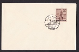 Germany: Commemorative Cover Grossdeutsches Reich, 1944, 1 Stamp, Special Cancel, Fulda, Sculpture, City (traces Of Use) - Duitsland