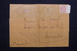 FRANCE - Oblitération Mécanique De Paris à 7 Barres Pointillés Sur Type Blanc Sur Bande Journal En 1916 - L 23181 - Marcophilie (Lettres)