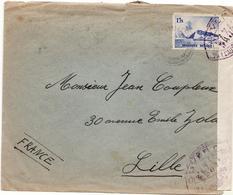 Pli Coxyde Vers Lille  Censure Militaire Francaise Controle Postal - Militaria