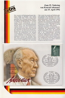 Germany Adenauer FDC - Famous People