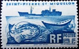 1947 ST PIERRE ET MIQUELON Yt 339 . Hitch. Neuf Trace Charnière - Neufs