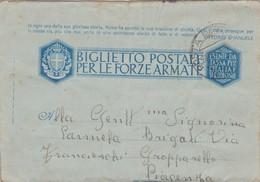 Italy 1942 Biglietto Postale Postale Per Le Forze Armate - 1900-44 Vittorio Emanuele III