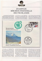 Germany Cover With Highest Post Office, Zugspitze Cover - Joint Issues