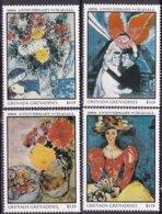 """1987-(MNH=**) Grenadine Di Grenada S.4v.""""quadri,anniversario Di Chagall"""" - Grenada (1974-...)"""