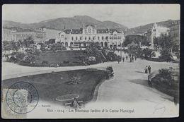"""FRANCE - Oblitération  """" Nice Central """" En Bleu Sur Type Blanc Sur Carte Postale En 1903 - L 23186 - Marcophilie (Lettres)"""