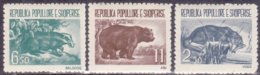 "1961-(MNH=**) Albania S.3v.""animali Selvaggi,orso,lontra,puzzola""catalogo Yvert Euro 45 - Albanie"