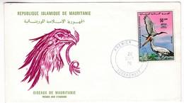 M434 Mauritanie Premier Jour FDC Nouakchott 1976 Ibis Sacré Oiesau Bird - Mauritania (1960-...)