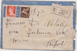 Italy 1942 Busta Raccomandata From Siracusa To Tripoli, Censurata - 1900-44 Vittorio Emanuele III