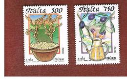 ITALIA - UN. 2173.2174  -    1994 I CIBI ITALIANI  (SERIE COMPLETA DI 2)  -  NUOVI **(MINT) - 6. 1946-.. Repubblica