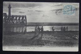 """FRANCE - Cachet Rectangulaire """" Trouvé à La Boite """" Sur Type Blanc Sur Carte Postale De Trouville En 1907 - L 23187 - Marcophilie (Lettres)"""