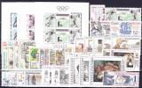 ** Tchécoslovaquie 1988 Mi 2939-82+Bl.74-91 (Yv 2750-66+2752-4 Les Feuilles+BF76A-84) L'année Complete, (MNH) - Tsjechoslowakije